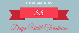 canvas print co christmas count down - 33 days to go