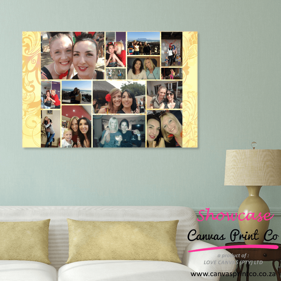 birthday party photo collage canvas print