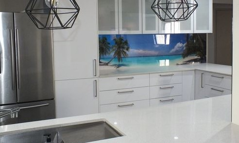 perspex printing for the kitchen - acrylic splashback