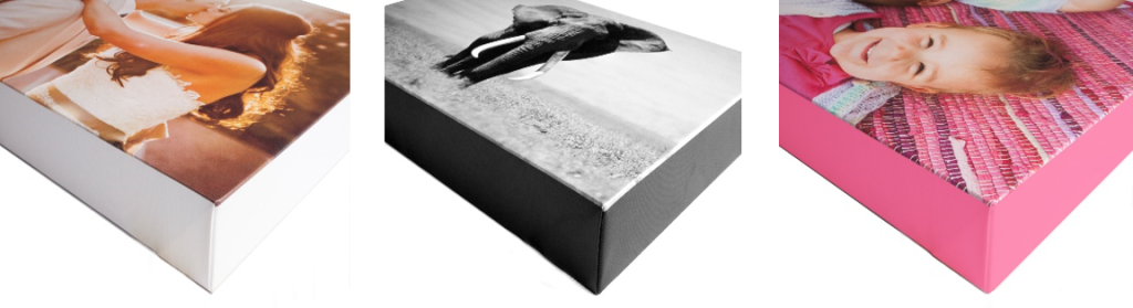 canvas prints white black colour edges