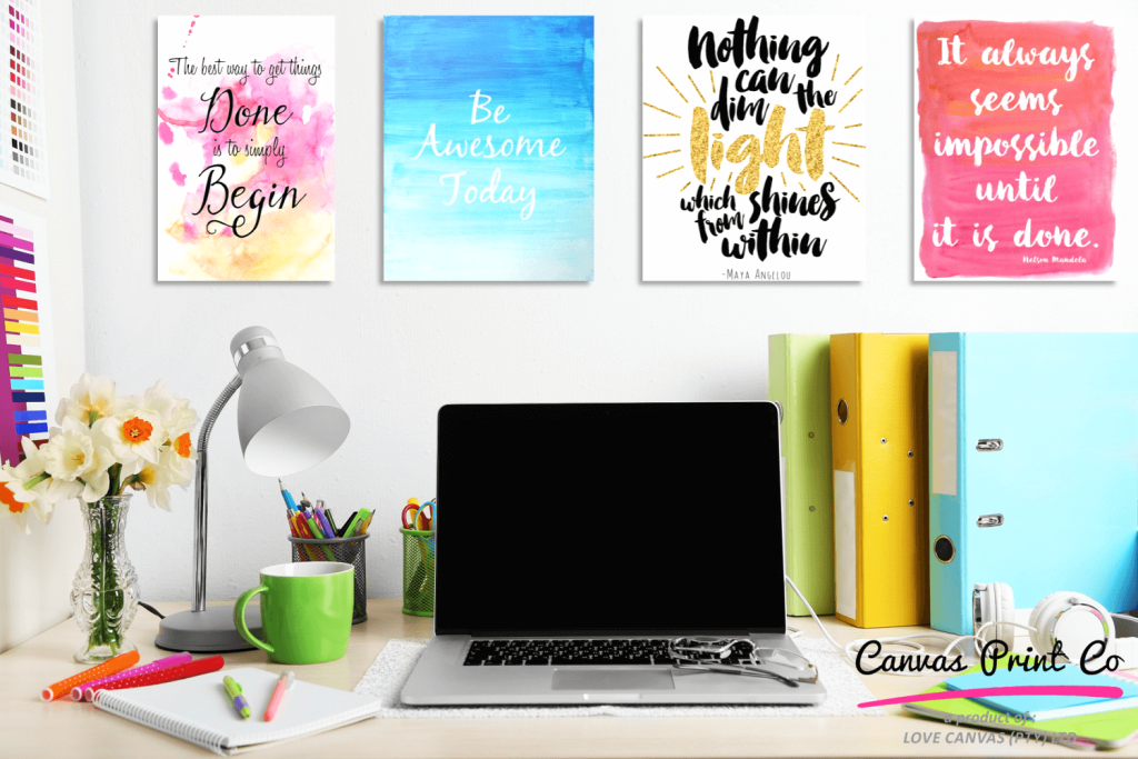 colourful workspace quotes