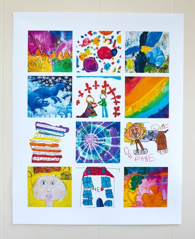canvas prints collage of kids art