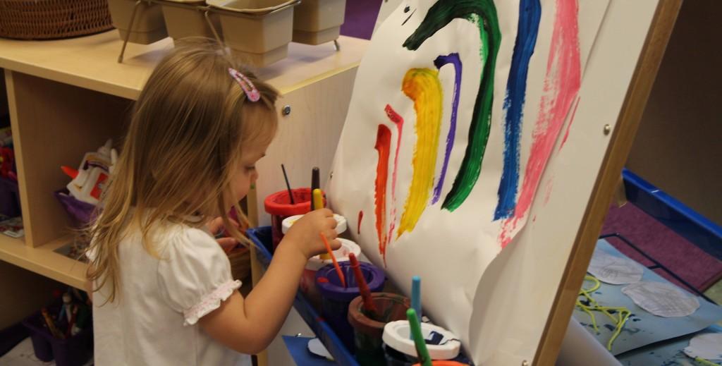 kids painting rainbow-1140420_1920