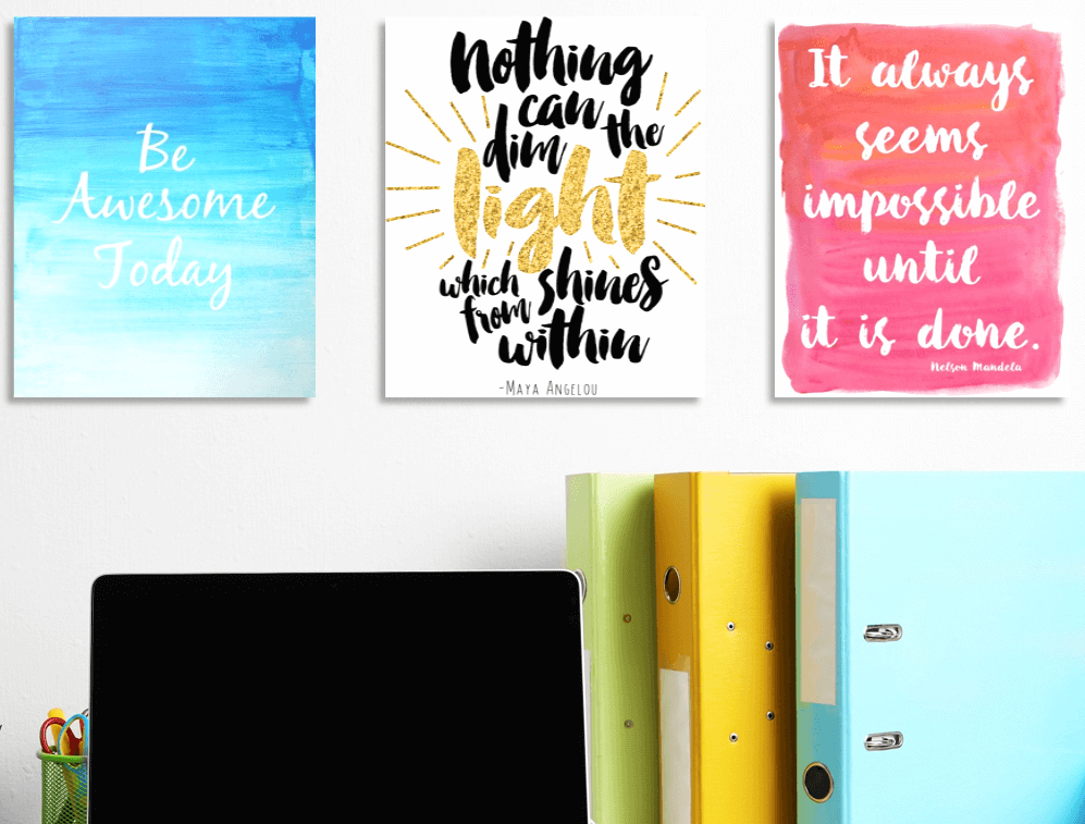 home office canvas prints