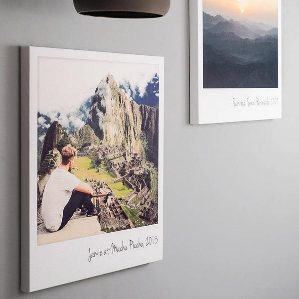 Polaroid and instagram polaroidpictureoncanvas original personalised polaroid canvas print